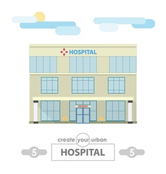 Hospital building set for create city landscape vector