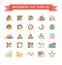 Icons set infographic concept vector
