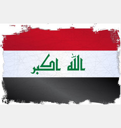 Iraq grunge flag vector