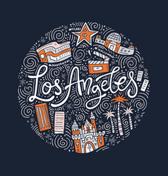 loas angeles symbols vector image