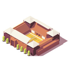 low poly volleyball stadium vector image