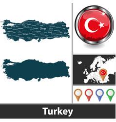 Map turkey vector