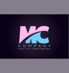 Mc alphabet letter join joined letter logo design vector