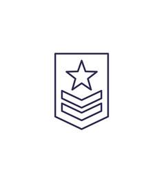 Military rank icon line vector