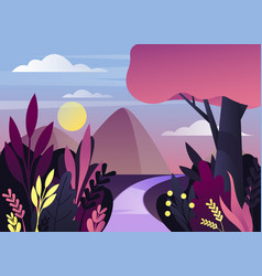 morning or night nature panorama with mountain vector image