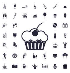 Muffin cake icon vector