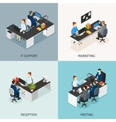 Office Isometric Icon Set vector