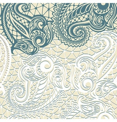 Paisley seamless lace pattern vector image