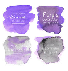 purple abstract watercolor background vector image