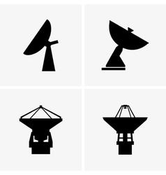 Radio telescopes vector image
