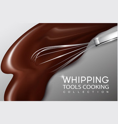 Realistic cream whipping process concept vector