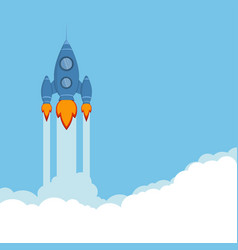 rocket ship vector image vector image