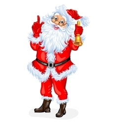 Santa Claus with a bell vector
