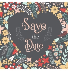 save date phrase on heart frame vector image