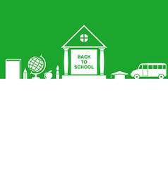 School house green vector