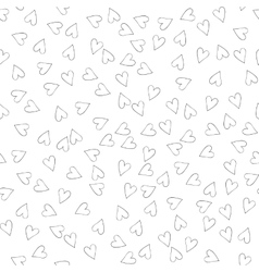 Seamless pattern with hearts for web print vector image