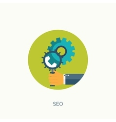 SEO Flat computing vector