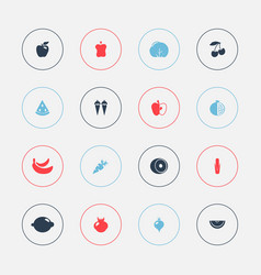 Set of 16 editable dessert icons includes symbols vector