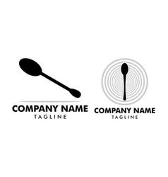 Set spoon icon logo vector