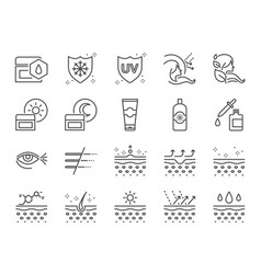 skin care icon set vector image