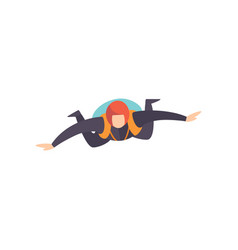 Skydiver flying in the sky skydiving parachuting vector