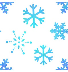 Snowflakes decorative seamless pattern vector image