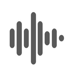 sound wave icon simple vector image