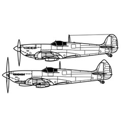 Supermarine spitfire v - ix vector