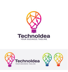 technology idea logo design vector image