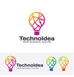 Technology idea logo design vector