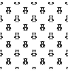 Teddy bear pattern simple style vector image