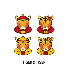 Tiger Chinese vector