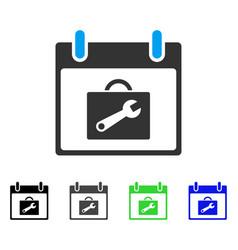 Toolbox calendar day flat icon vector