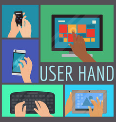 user hand seamless pattern vector image