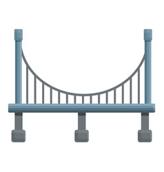 viaduct bridge icon cartoon style vector image