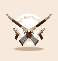 wild west guns and winchesters banner vector image