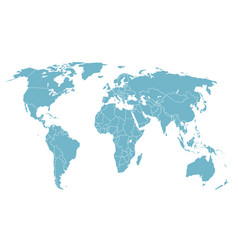 World map in perspective vector