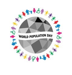 world population day vector image