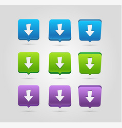 download icon upload button load symbol rounded vector image