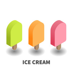 ice cream icon symbol vector image