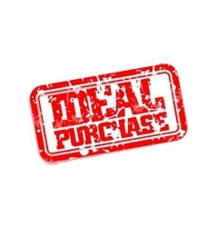 Ideal purchase rubber stamp vector image vector image
