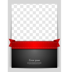 Abstract background with red ribbon vector image