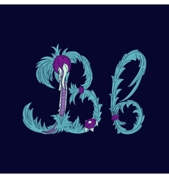 Abstract letter b logo icon in blue tropical vector