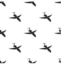 Airplane icon in black style isolated on white vector