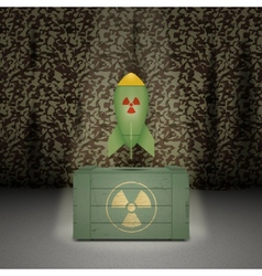 Army background with nuclear weapon vector image vector image