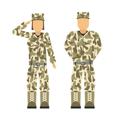 Military character weapon symbols armor man vector