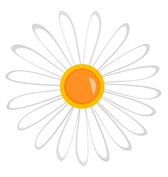 nature flower sign on the white vector image vector image