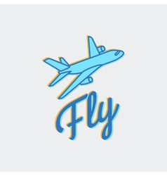 Travel or airplane logo icon vector image