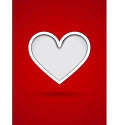 Valentines Day card with cut out heart vector image vector image