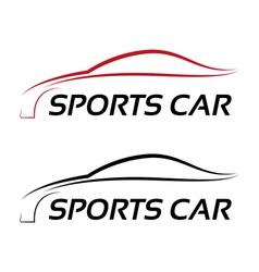 Calligraphic sport car logo template vector image